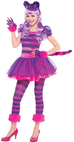 Older Girls Cheshire Cat Fancy Dress Costume