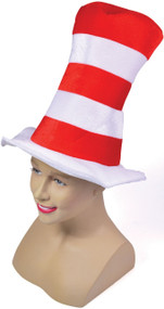 Child's  Red White Stripes Fancy Dress Top Hat