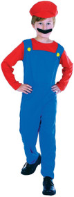 Boys Retro Mario Fancy Dress Costume