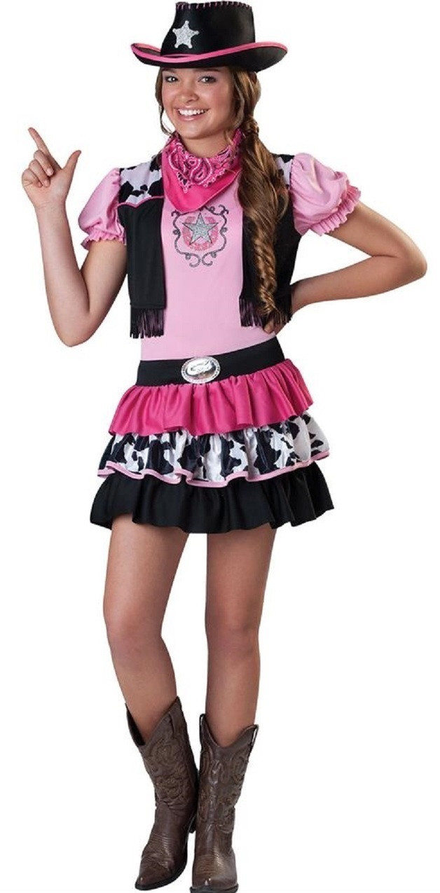 older girls cowgirl fancy dress costume - fancy me limited