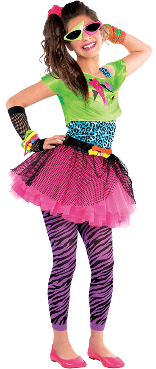 ... 80s Fancy Dress Costume. Image 1  sc 1 st  Fancy Me Limited & Older Girls Totally Awesome 80s Fancy Dress Costume - Fancy Me Limited