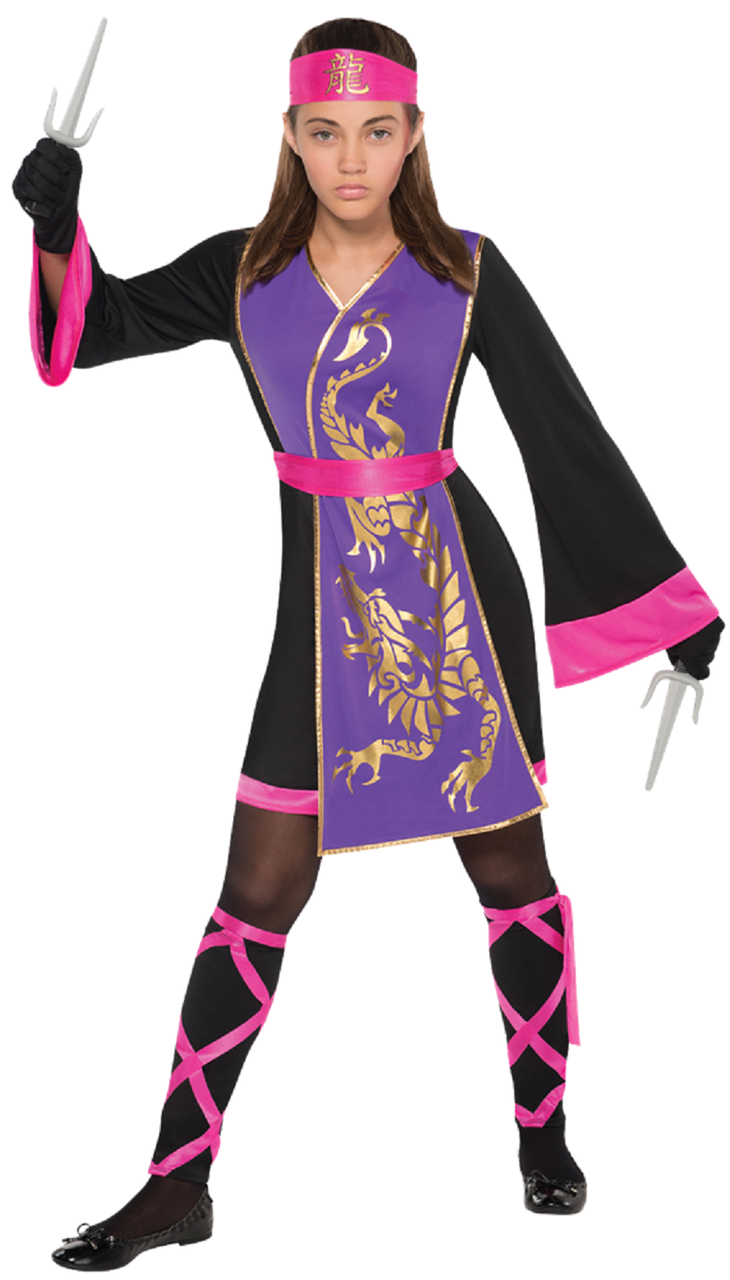 Older Girls Sassy Samurai Ninja Fancy Dress Costume - Fancy Me Limited