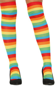 Ladies Rainbow Stripe Stockings