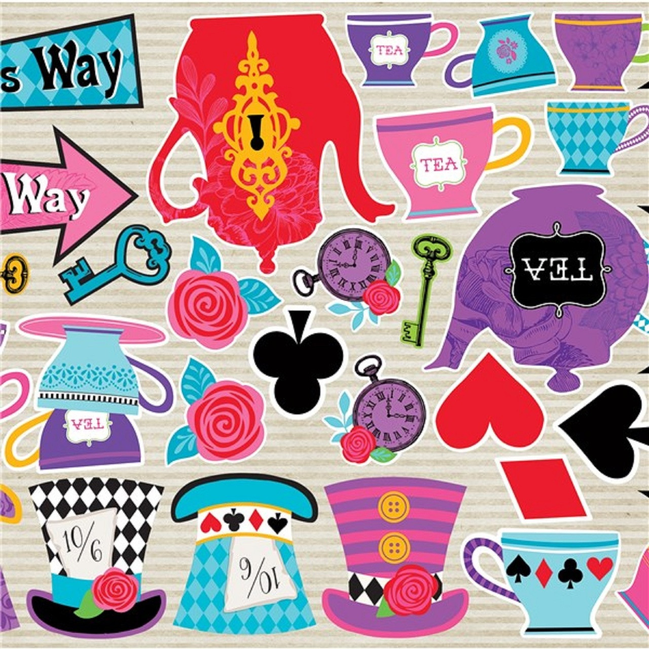 Mad hatter tea party decorations pack of 30 fancy me for Mad hatter party props