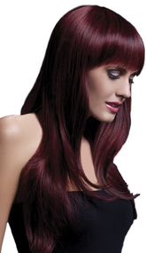 Ladies Professional Black Cherry Long Sienna Wig