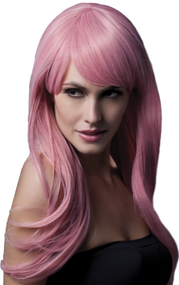 Ladies Professional Pink Sienna Long Wig