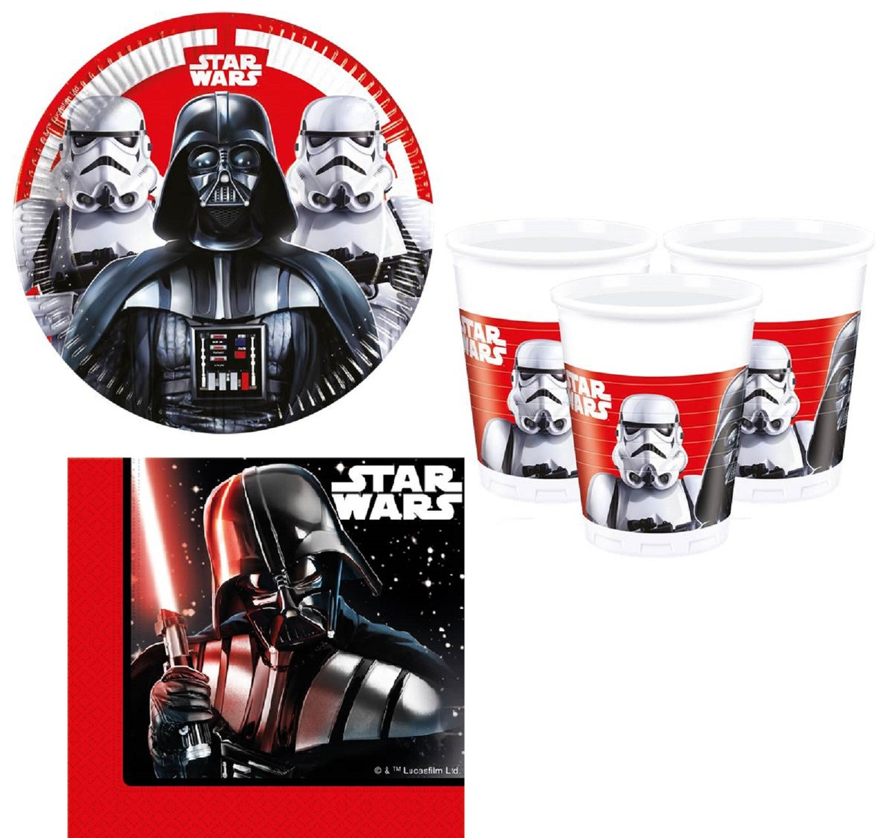 Star Wars Party Tableware Set. Image 1  sc 1 st  Fancy Me Limited & Star Wars Party Tableware Set - Fancy Me Limited
