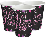Pink Celebration Party Cups