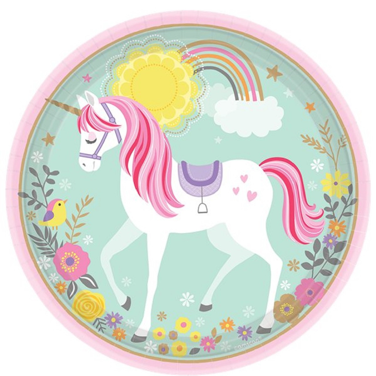 Magical Unicorn Party Plates Fancy Me Limited