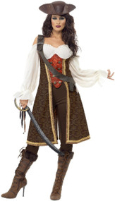 Ladies Sultry Pirate Wench Fancy Dress Costume