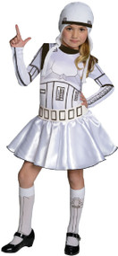 Girls Storm Trooper Fancy Dress Costume