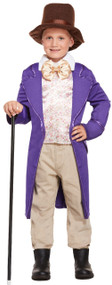 Boys Chocolate Factory Owner Fancy Dress Costume