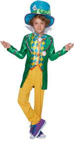 Boys Mad Hatter Fancy Dress Costume