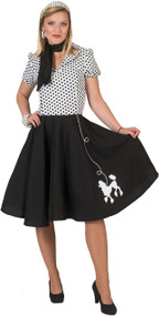 Ladies 1950s Poodle Skirt Fancy Dress Costume