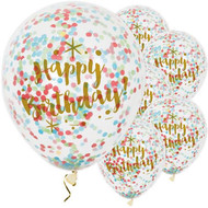 Happy Birthday Confetti Party Balloons