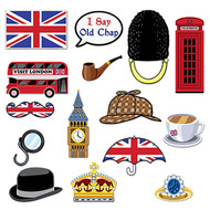 British Photo Booth Party Props