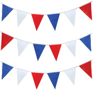 Red White Blue 15m Party Bunting