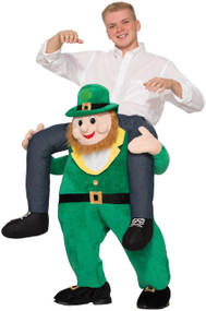 Adults Piggyback Leprechaun Fancy Dress Costume 1