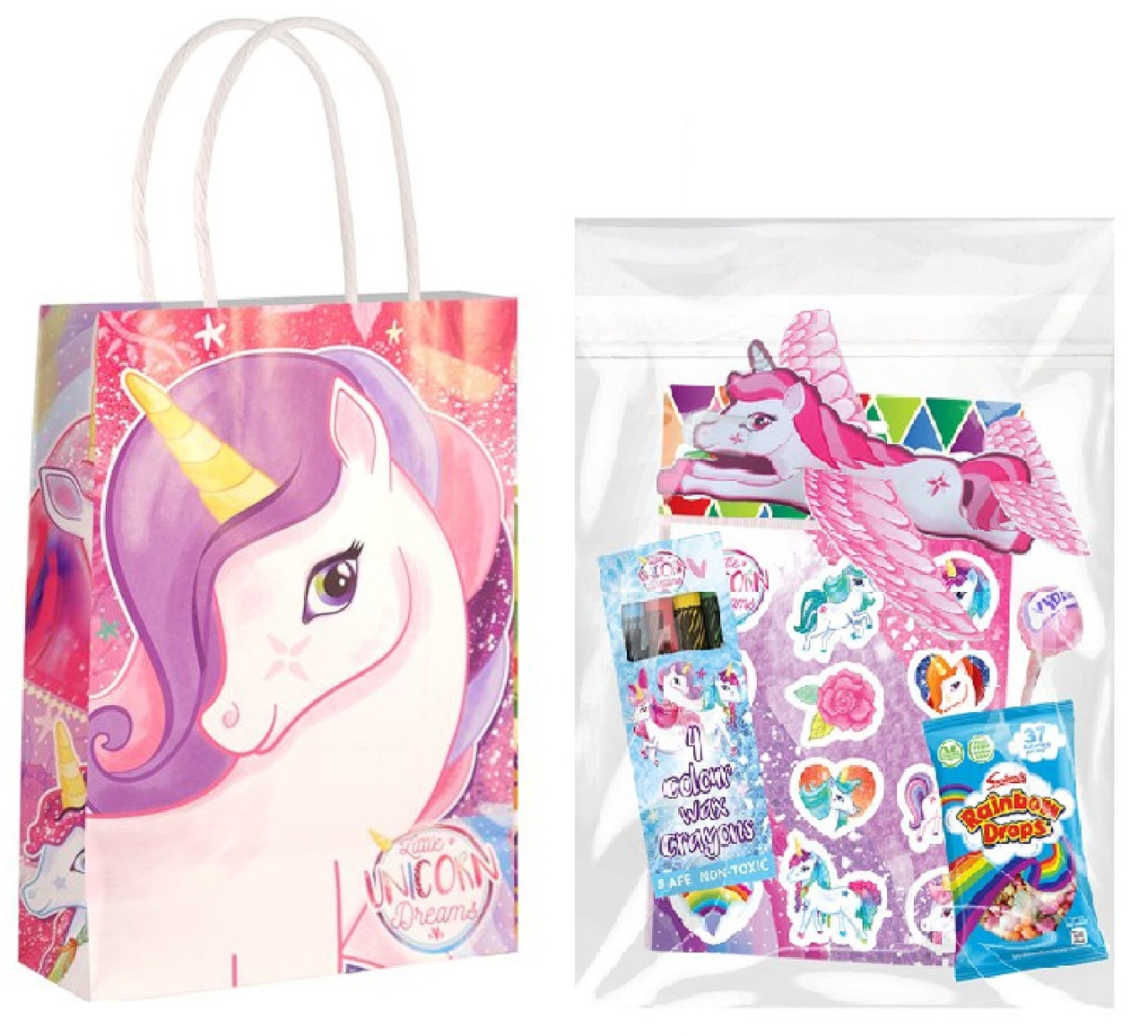 Gift Bag Toys : Unicorn filled party bags for fancy me limited
