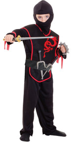 Boys Master Ninja Fancy Dress Costume