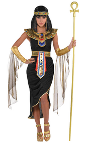 Ladies Egyptian Queen Goddess Fancy Dress Costume