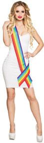 Adults Rainbow Fancy Dress Sash