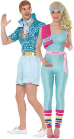 Couples Ken And Barbie Fancy Dress Costume