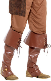Men's Deluxe Pirate Fancy Dress Boot Covers