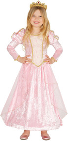 Girls Pink Velvet Princess Fancy Dress Costume