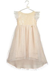 Girls Disney Boutique Sparkly Tinkerbell Occasion Dress