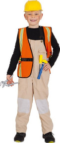 Childs Construction Worker Fancy Dress Costume