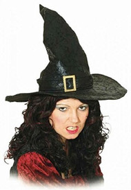 Ladies Tall Black Witches Hat