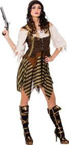 Ladies Caribbean Pirate Fancy Dress Costume 1