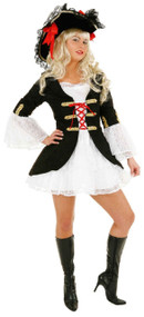 Ladies Sexy Pirate Shipmate Fancy Dress Costume