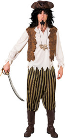 Mens Caribbean Pirate Fancy Dress Costume 1