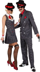 Couples 1920s Gangster Fancy Dress Costumes