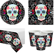 Day Of The Dead Complete Tableware Set