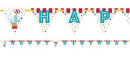 Circus Carnival Party Birthday Banner
