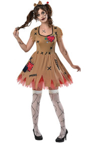 Ladies Miss Voodoo Fancy Dress Costume