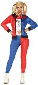 Ladies Twisted Squad Girl Fancy Dress Costume