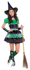 Girls Cool Witch Fancy Dress Costume