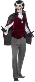 Mens Traditional Vampire Fancy Dress Costume