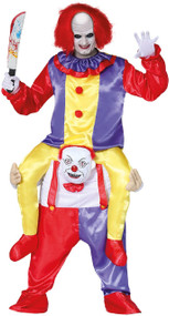 Adults Ride On Killer Clown Fancy Dress Costume