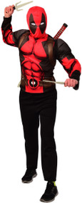 Teen Boys Instant Deadpool Fancy Dress Costume Kit