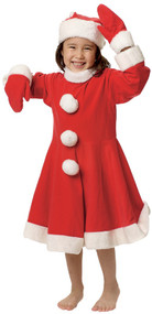 Toddler Girls Mrs Clause Fancy Dress Costume