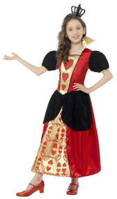Girls Heart Queen Fancy Dress Costume