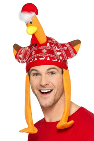 Adults Festive Turkey Hat