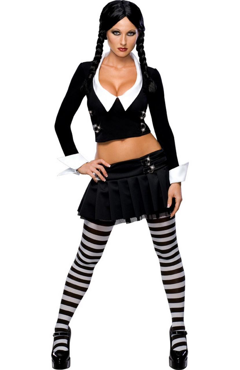 Ladies Wednesday Addams Fancy Dress Costume. Image 1  sc 1 st  Fancy Me Limited & Ladies Wednesday Addams Fancy Dress Costume - Fancy Me Limited