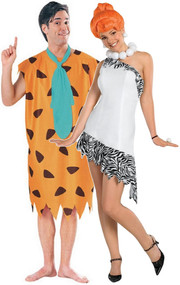 Couples Fred & Wilma Flintstone Fancy Dress Costume