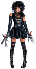 Ladies Miss Scissorhands Fancy Dress Costume